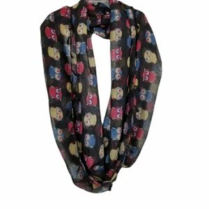 Do Everything In Love Infinity Tassel Scarf Owls
